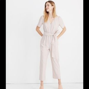 Madewell | Striped Puff Sleeve Tapered Jumpsuit
